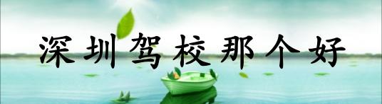 深圳驾校那个好?
